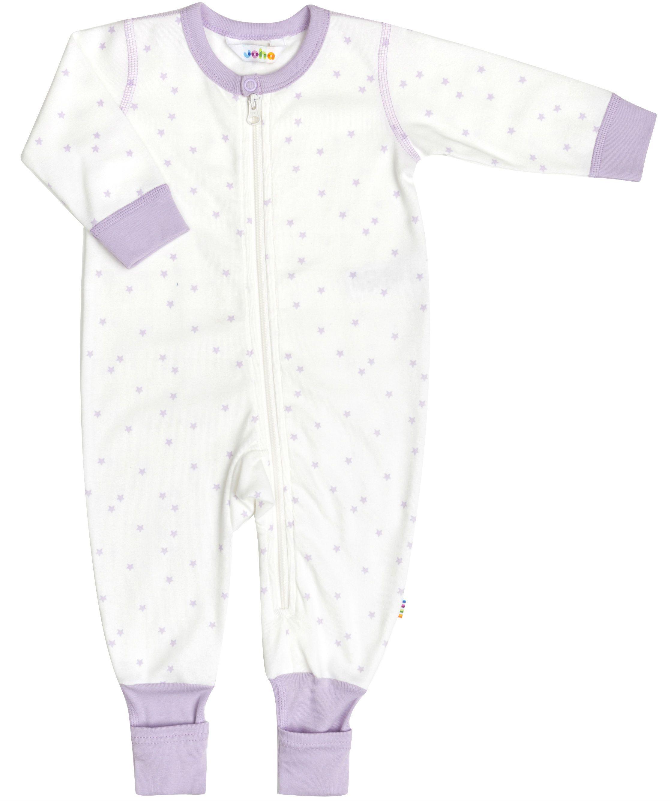 Billede af Jumpsuit i økologisk bomuld fra Joha - Purple Stars