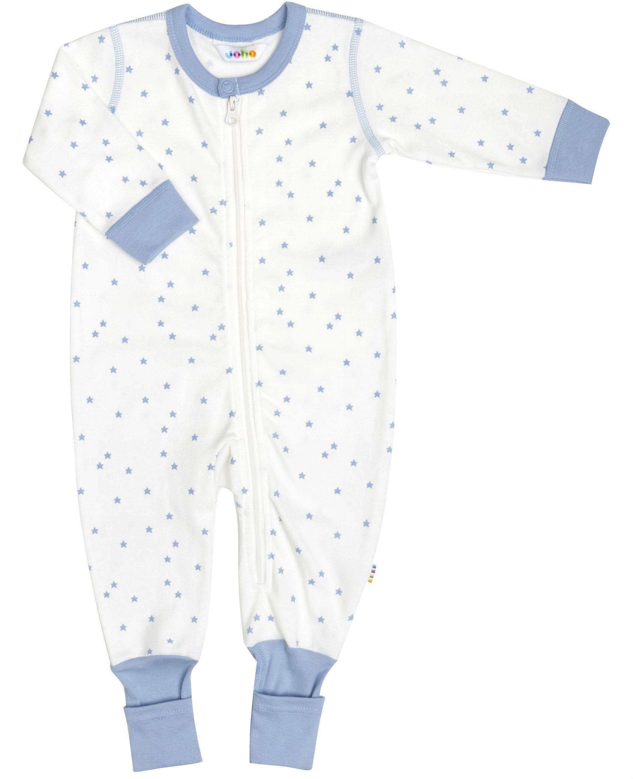 Image of   Jumpsuit i økologisk bomuld fra Joha - Blue Stars