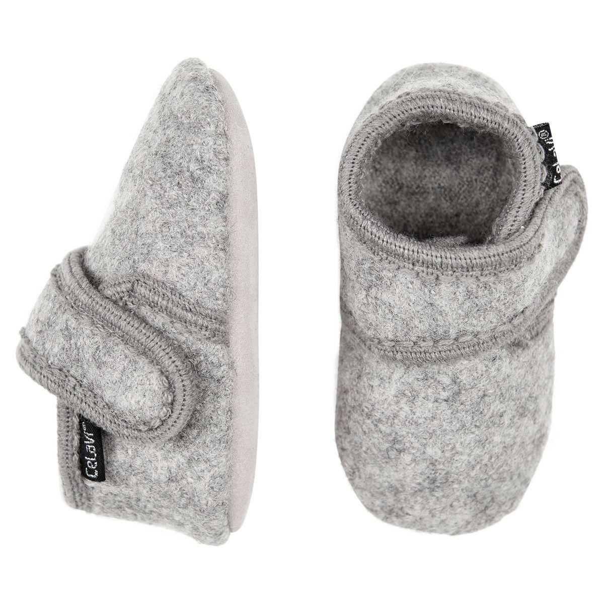Hjemmesko i uld fra CeLaVi - Grey melange