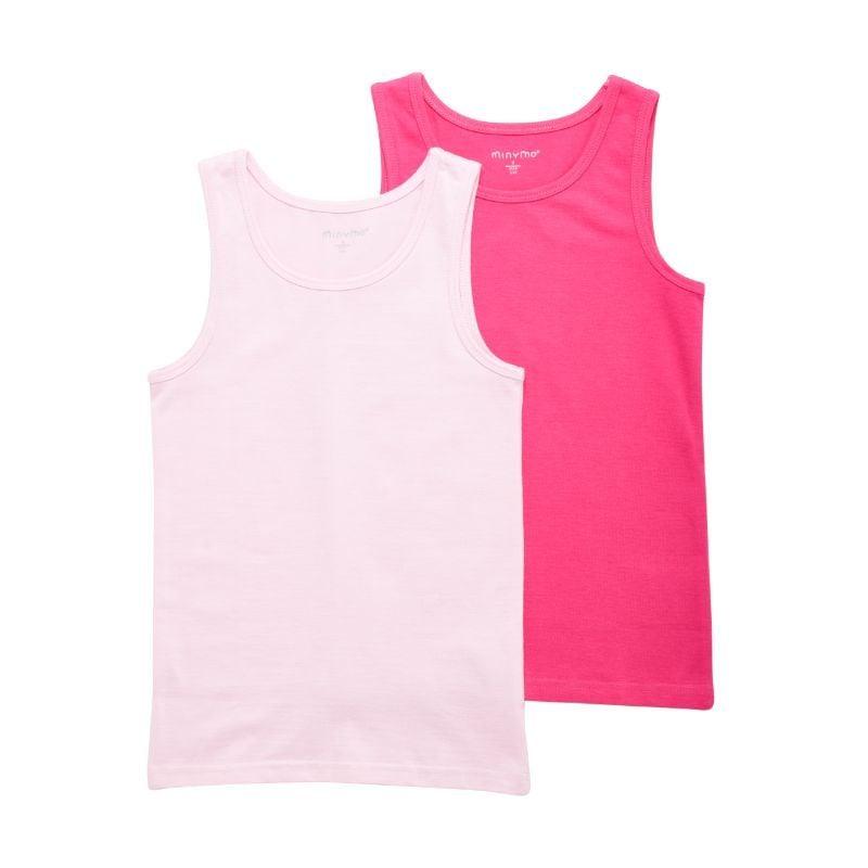 Undertrøje fra Minymo - 2-pak - Pink og Soft Rose