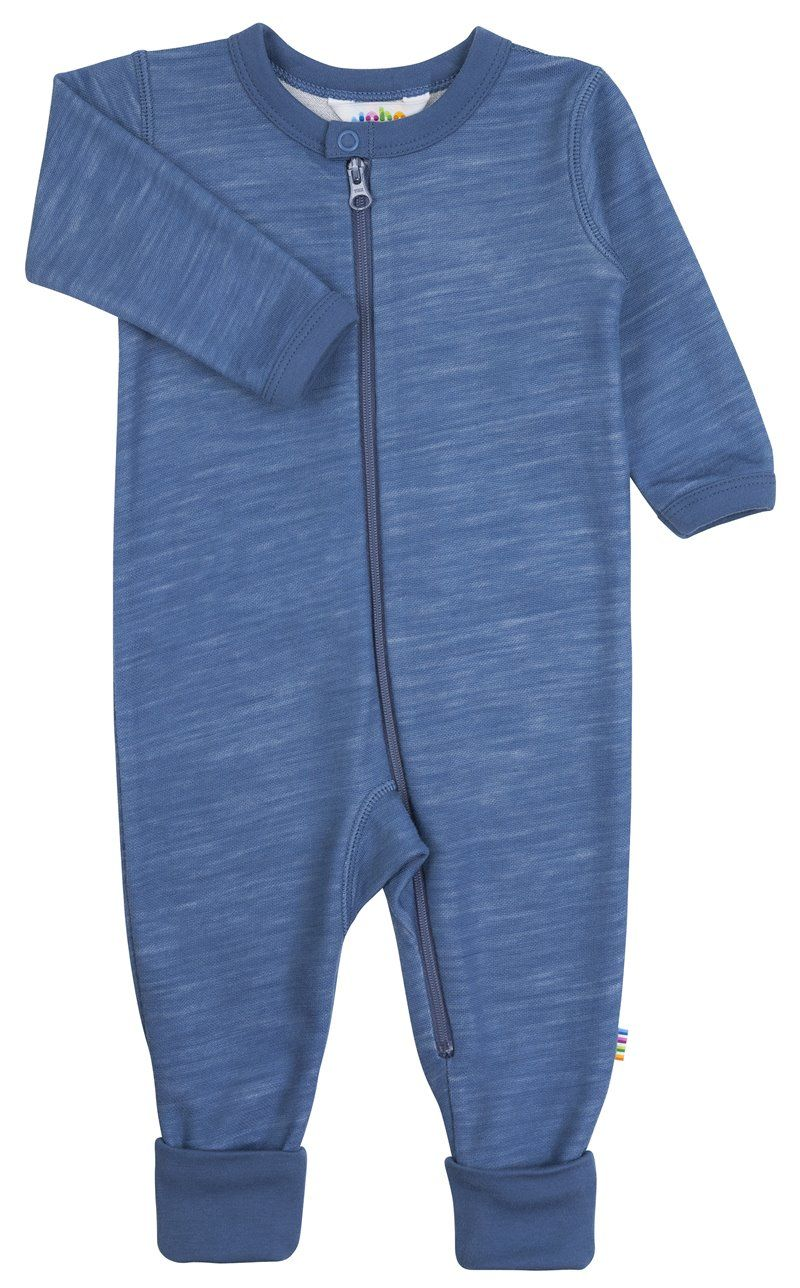 Image of   Jumpsuit m. tryllefod fra Joha i uld/bambus - Blue horizon