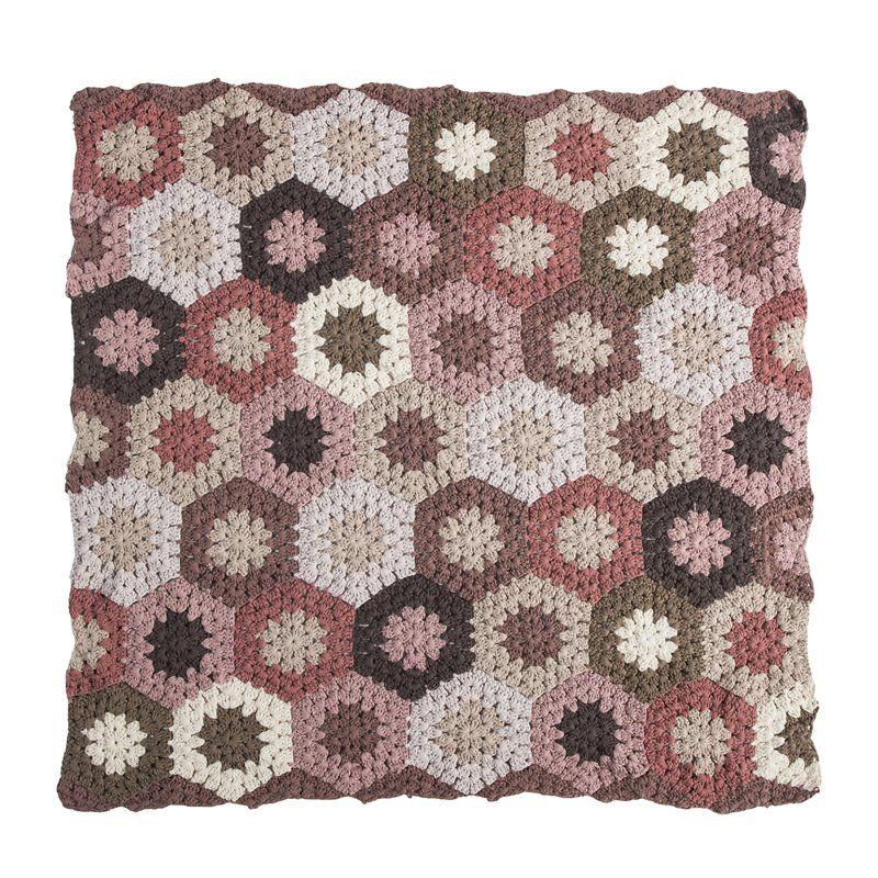 babytæppe fra Sebra - Hæklet rosa