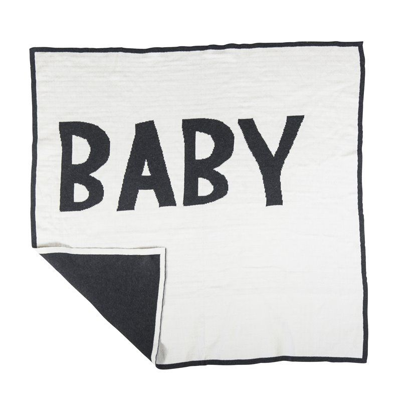 Image of   babytæppe fra Sebra - Strikket