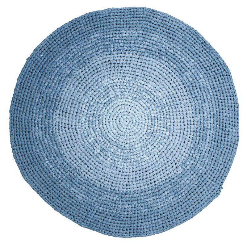 Image of Gulvtæppe fra Sebra - Hæklet gradient blue (4003107)