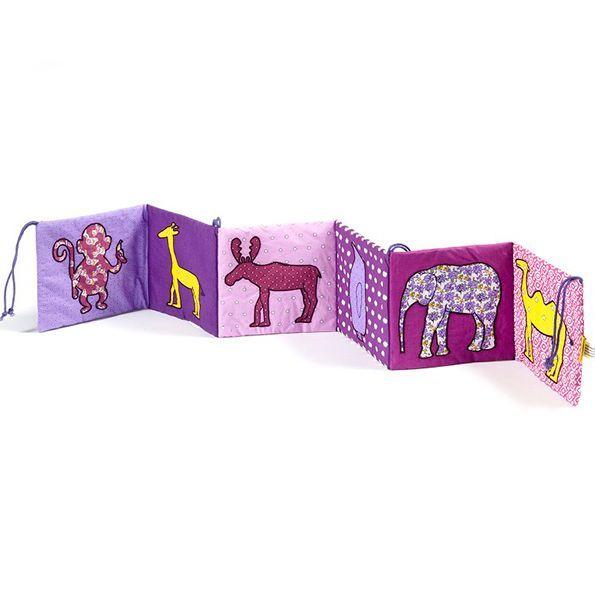 Barnevognsrand med dyr fra Smallstuff - Pige thumbnail