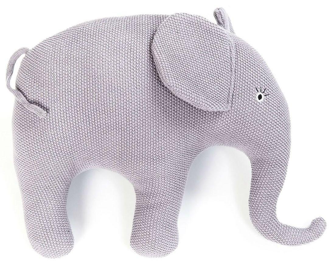 Pyntepude fra Smallstuff - Strikket lavendel elefant