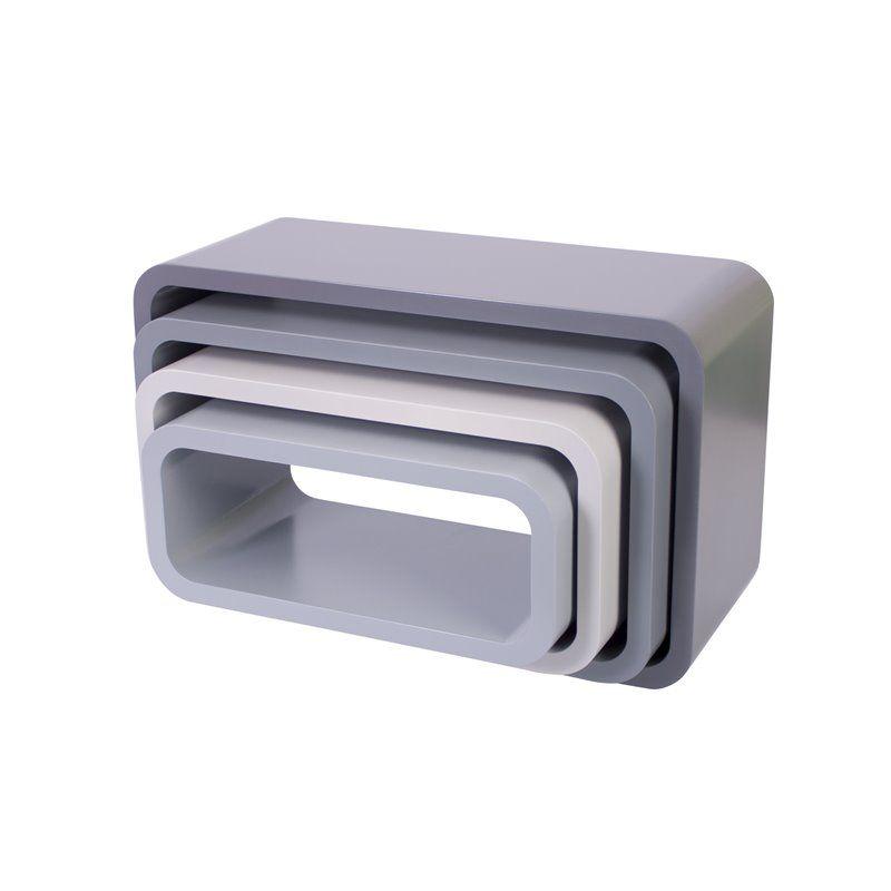 Image of Bogkasser fra Sebra - oval mat grå (4 stk) (4009302)