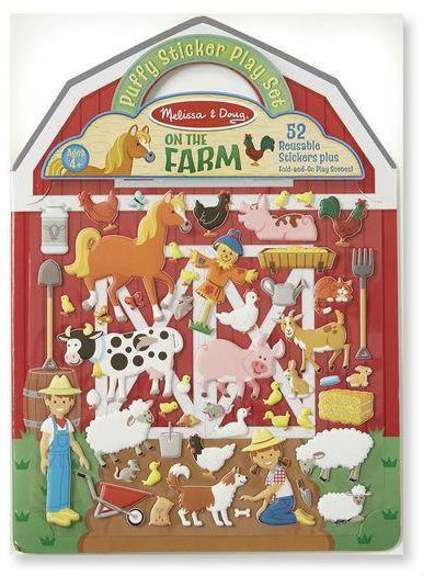 Image of Klistermærker fra Melissa & Doug - Reusable Puffy Stickers - Farm (19408)