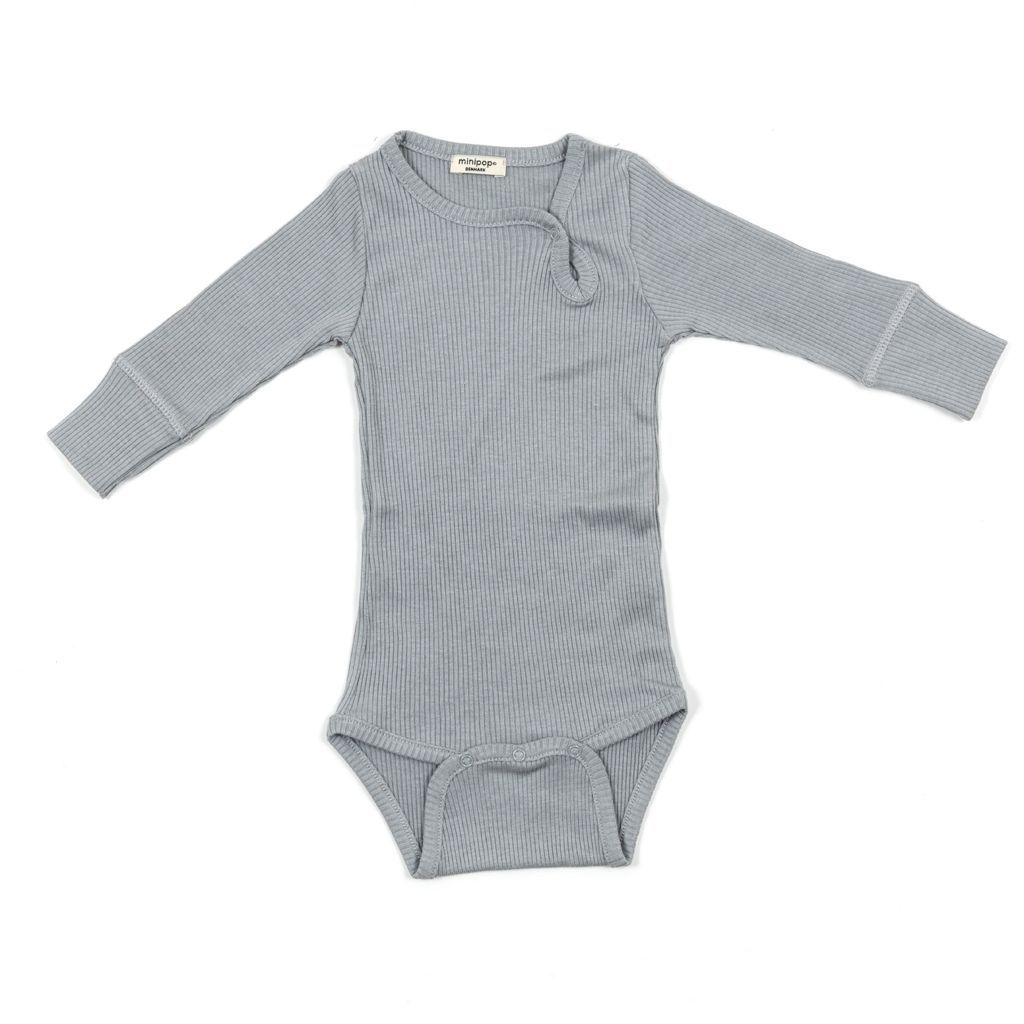 Image of   Body fra MiniPop med lange ærmer - modal - Grey