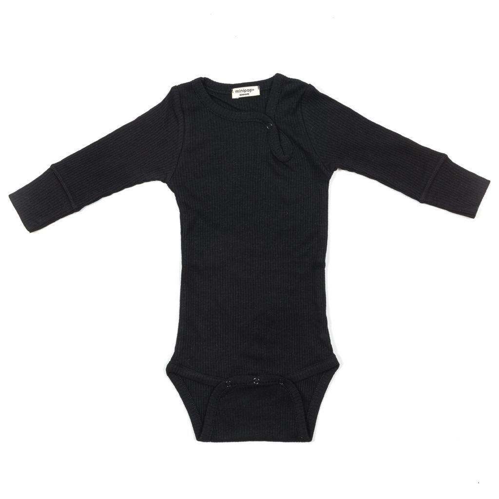 Image of   Body fra MiniPop med lange ærmer - modal - Black