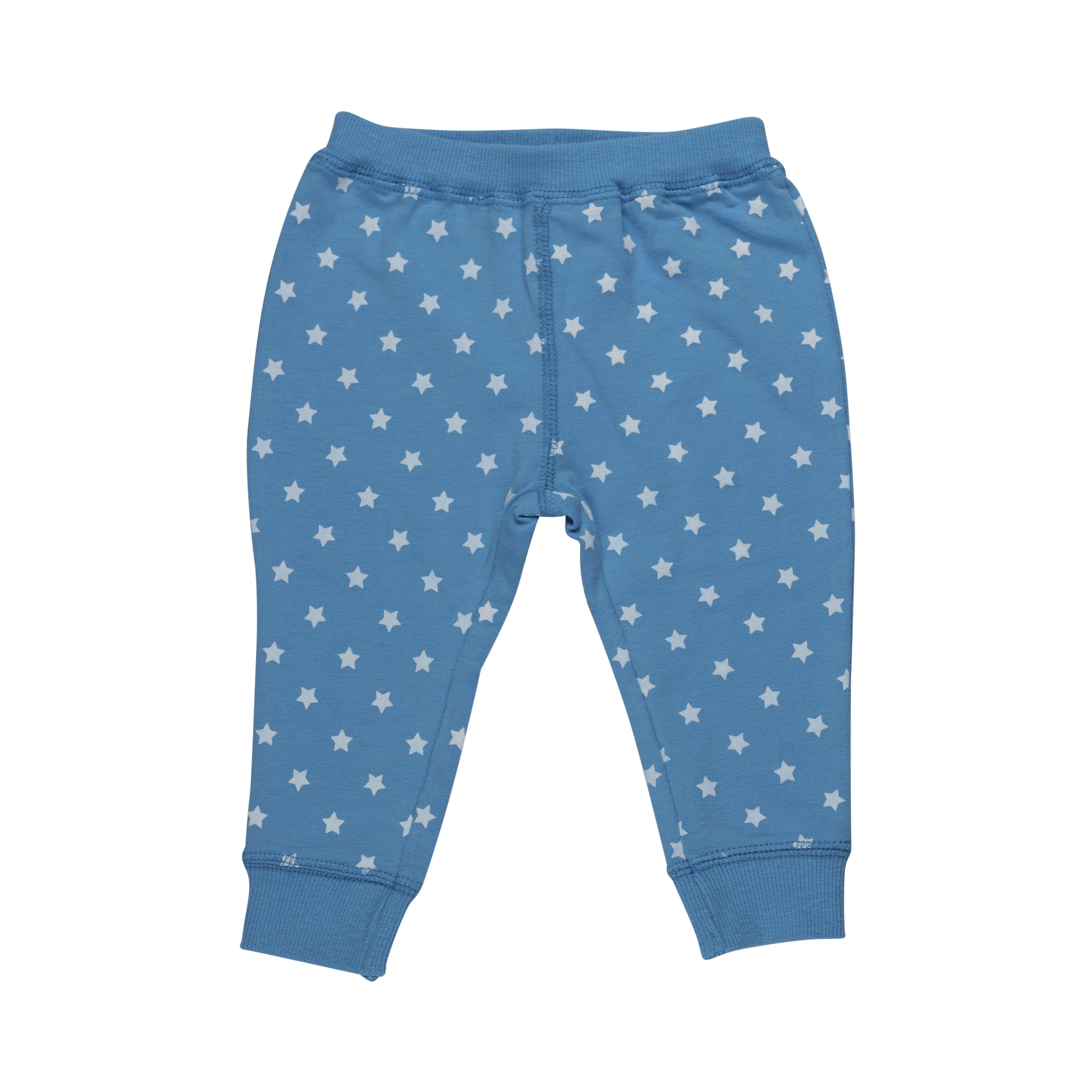 Image of   Baby bukser fra Pippi - Økologisk Bomuld - Blue & Stars