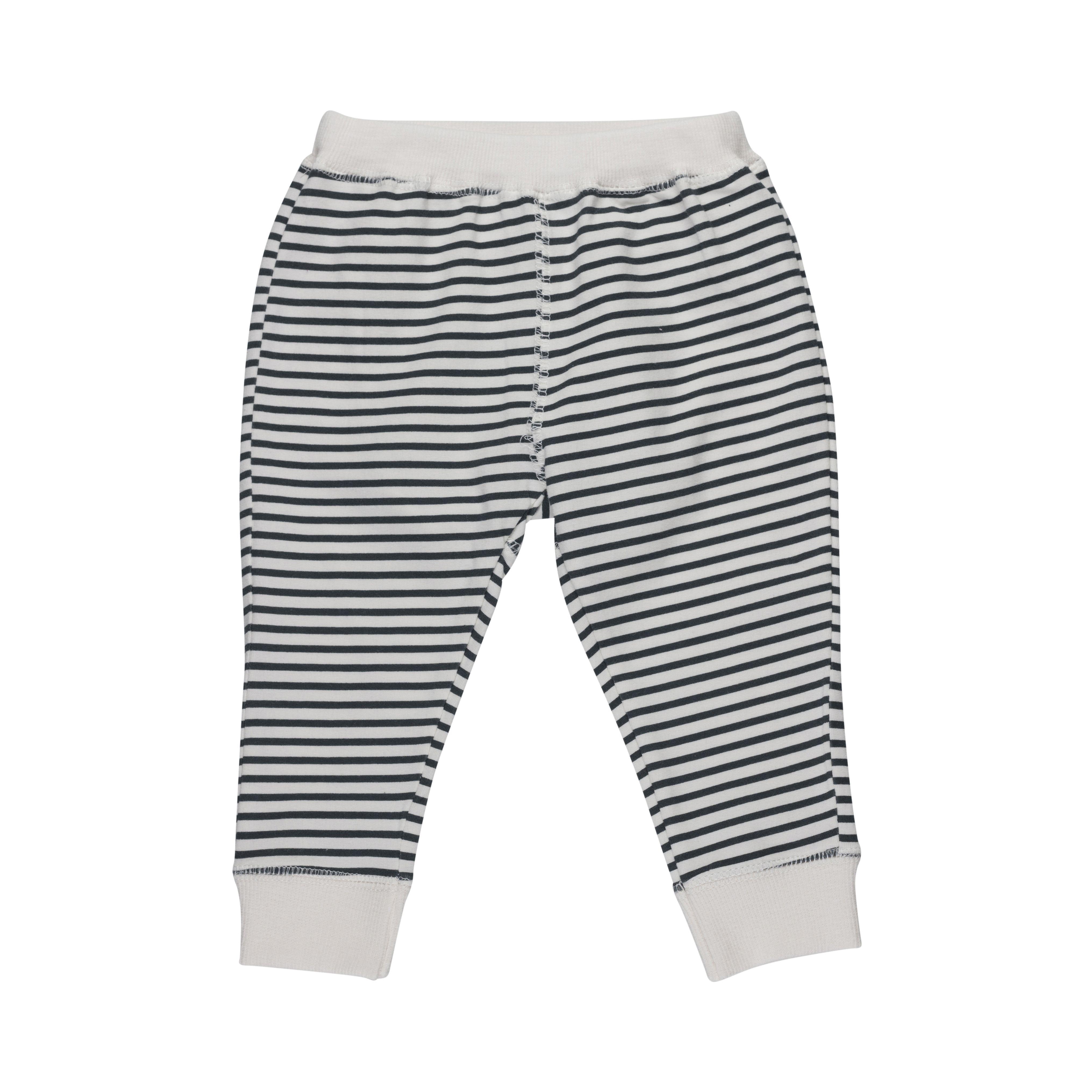 Image of Baby bukser fra Pippi - Økologisk Bomuld - Black Stripes (4021-100)