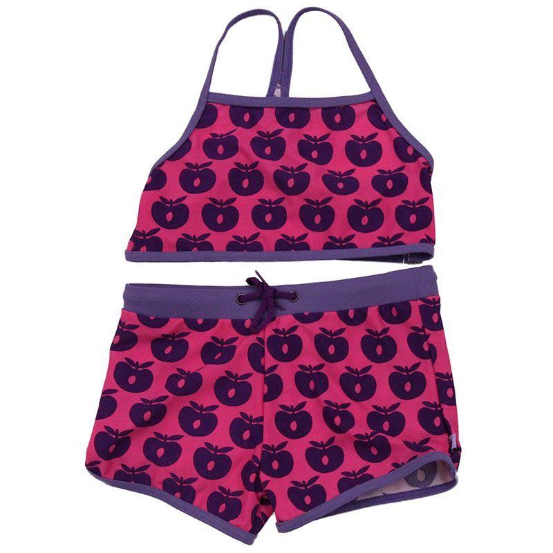 Image of   Bikini m. hipsters fra Småfolk - Pink m. lilla æbler