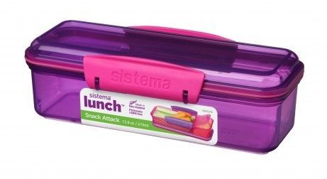 Snakboks - Sistema Snack Attack Lunch - Lilla/pink