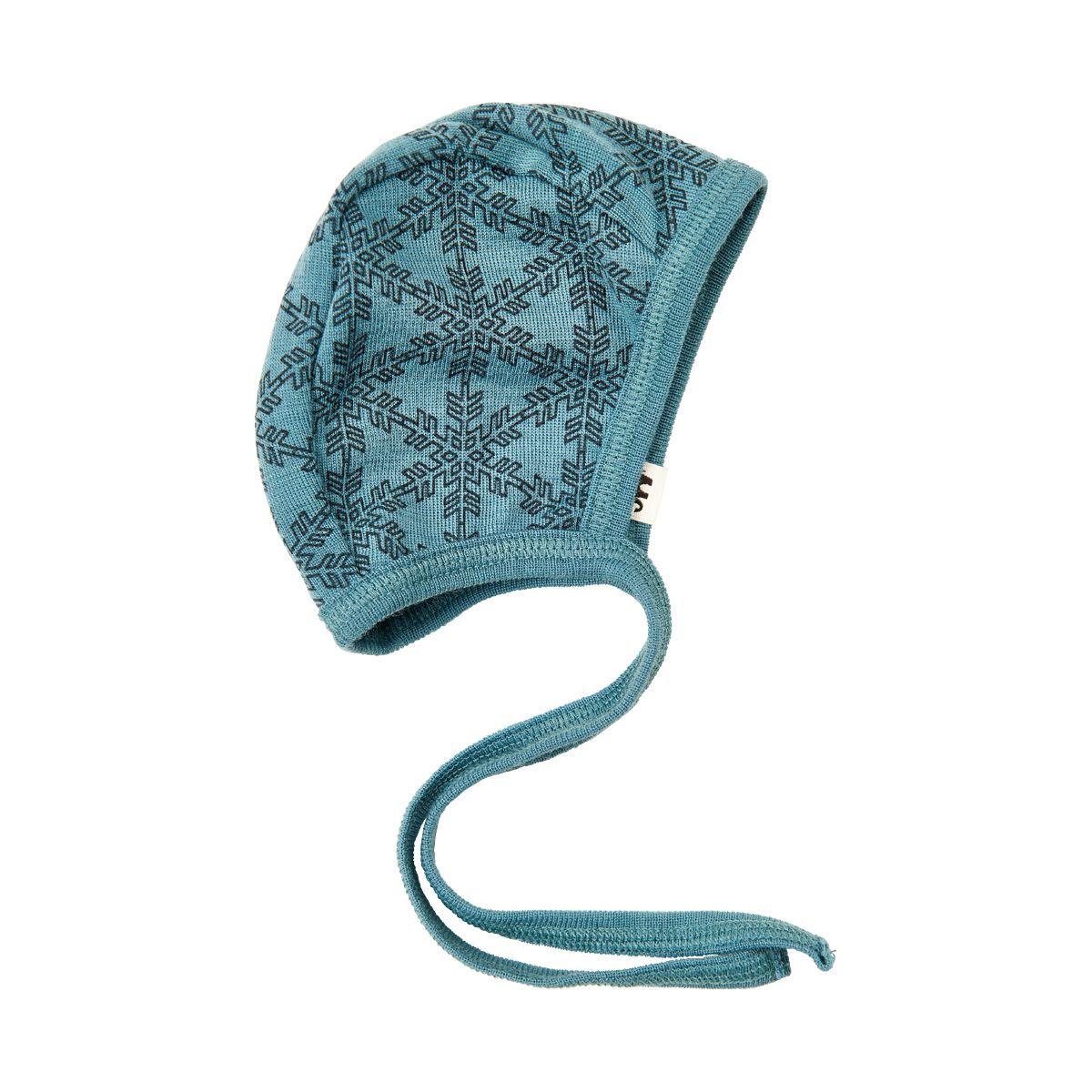 Image of   Uld hjelm fra Celavi - Petrol Snowflake