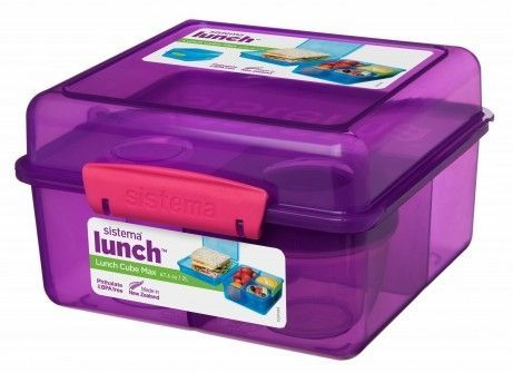 Image of   Madkasse Lunch Cube Max fra Sistema - Lilla/pink
