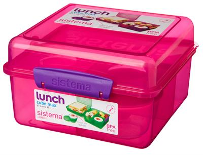 Image of   Madkasse Lunch Cube Max fra Sistema - Itsy Bitzy Pink