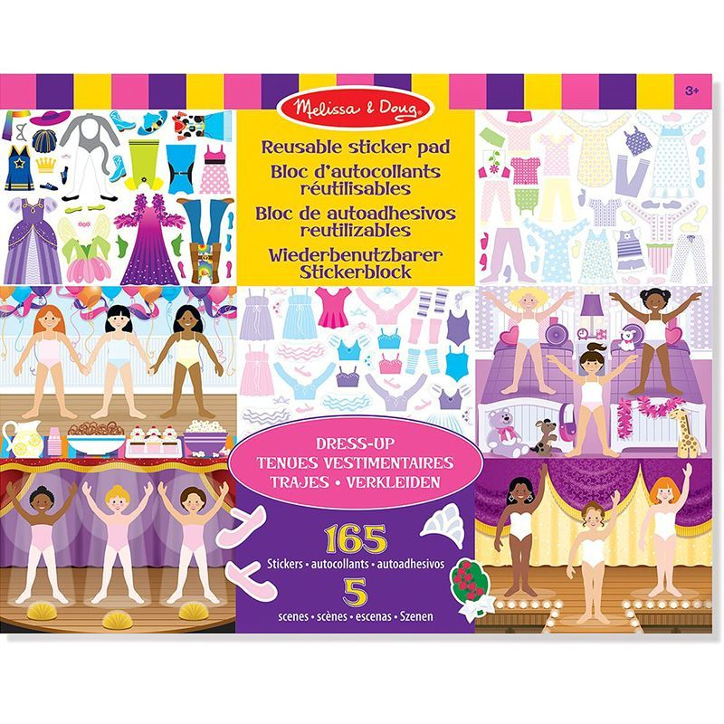 Image of Klistermærkebog fra Melissa & Doug - Reusable Sticker Pad - Styling (14198_dress-up)