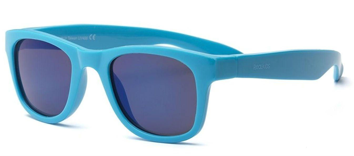 Real kids shades – Solbriller fra real shades - surf flex - neon blå fra babygear.dk