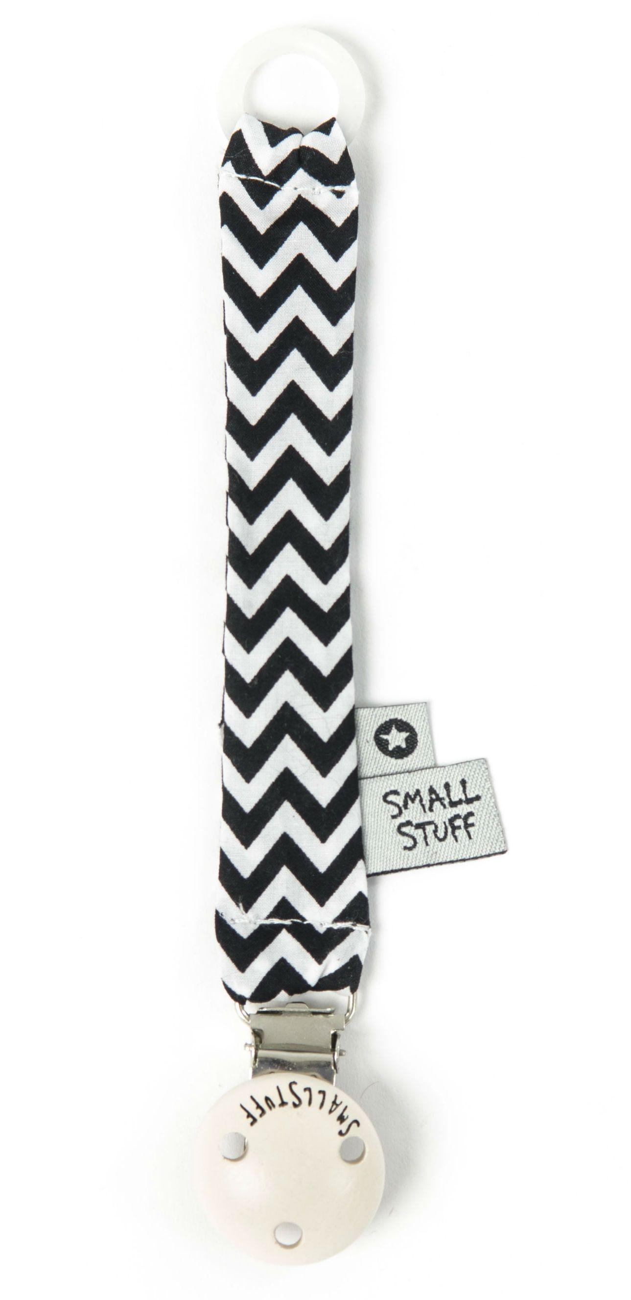 Image of   Suttekæde fra Smallstuff - Black/white zigzag