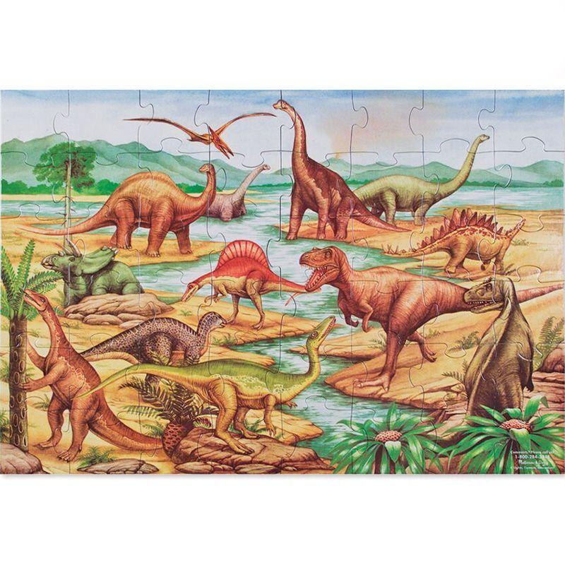 Billede af Gulv puslespil fra Melissa & Doug (60x90) - Dinosauer