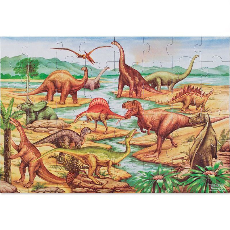 Image of Gulv puslespil fra Melissa & Doug (60x90) - Dinosauer (10421)