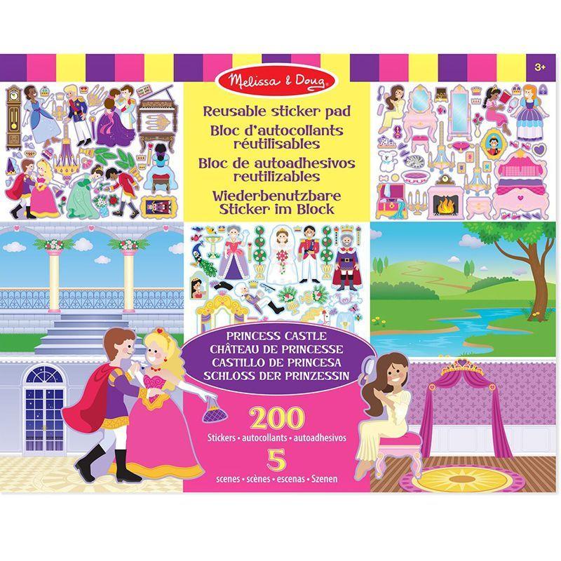 Billede af Klistermærkebog fra Melissa & Doug- Reusable Sticker Pad- Prinsesse