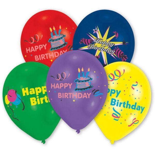 Image of Balloner - Happy Birthday (10 stk) (46010)