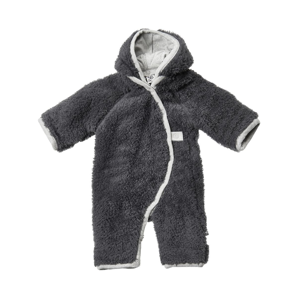 Image of   Teddy fleece dragt fra Pippi - Mørkegrå