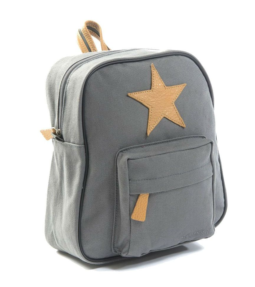 Image of   Lille rygsæk fra Smallstuff - Leather Star - Grey