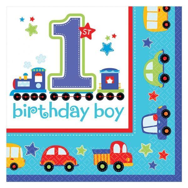 Image of Servietter - 1 års fødselsdag - Birthday Boy (16 stk) (998104)
