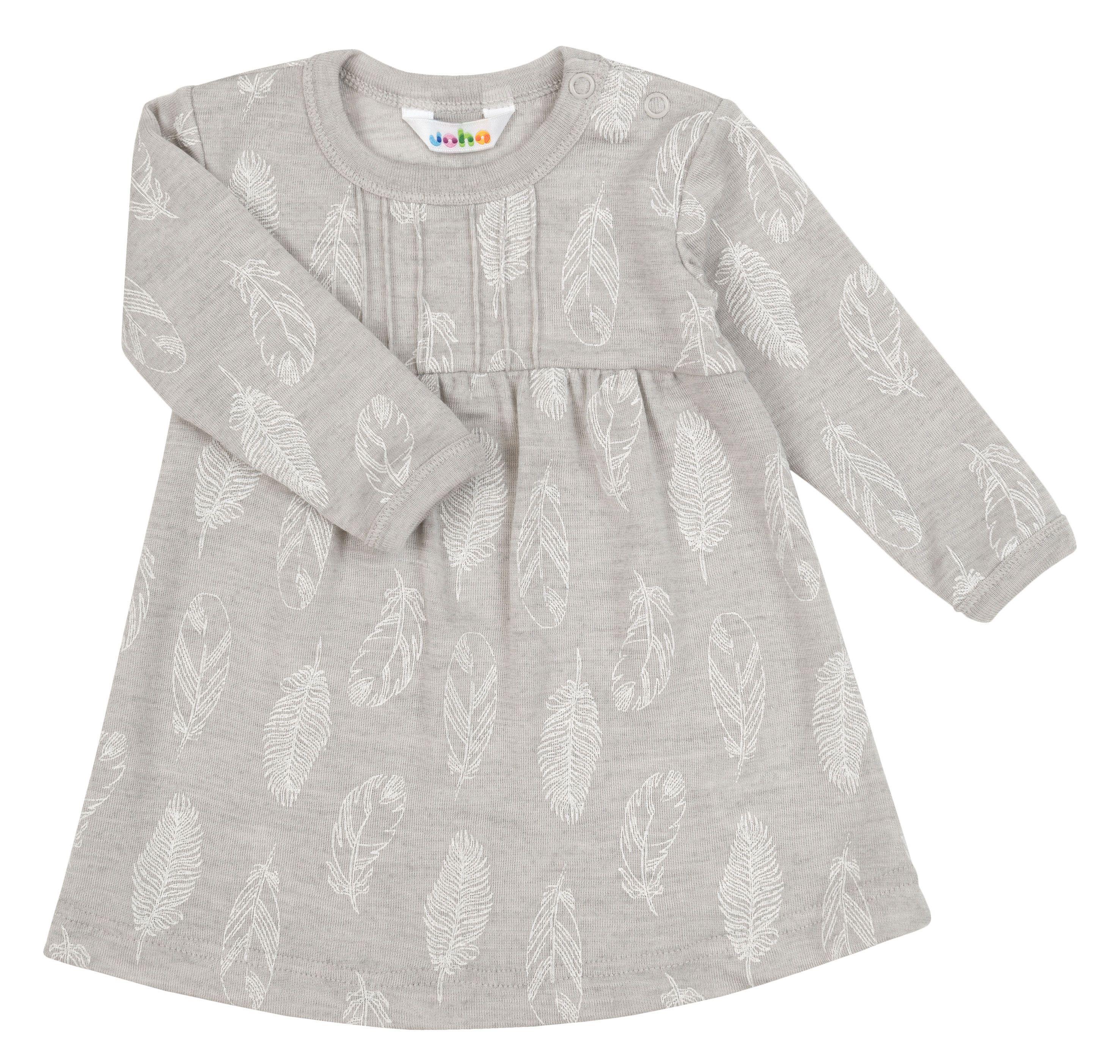Kjole fra Joha i uld-silke m. Grey Feathers