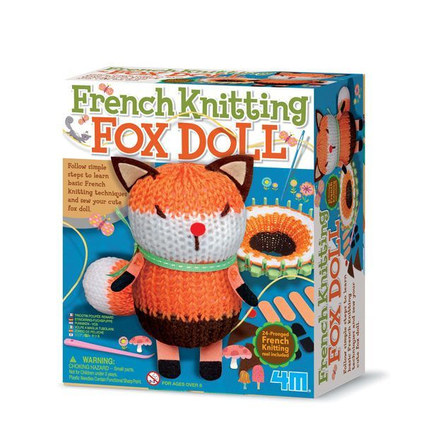Image of French Knitting Fox Doll fra 4M (4M-4682)