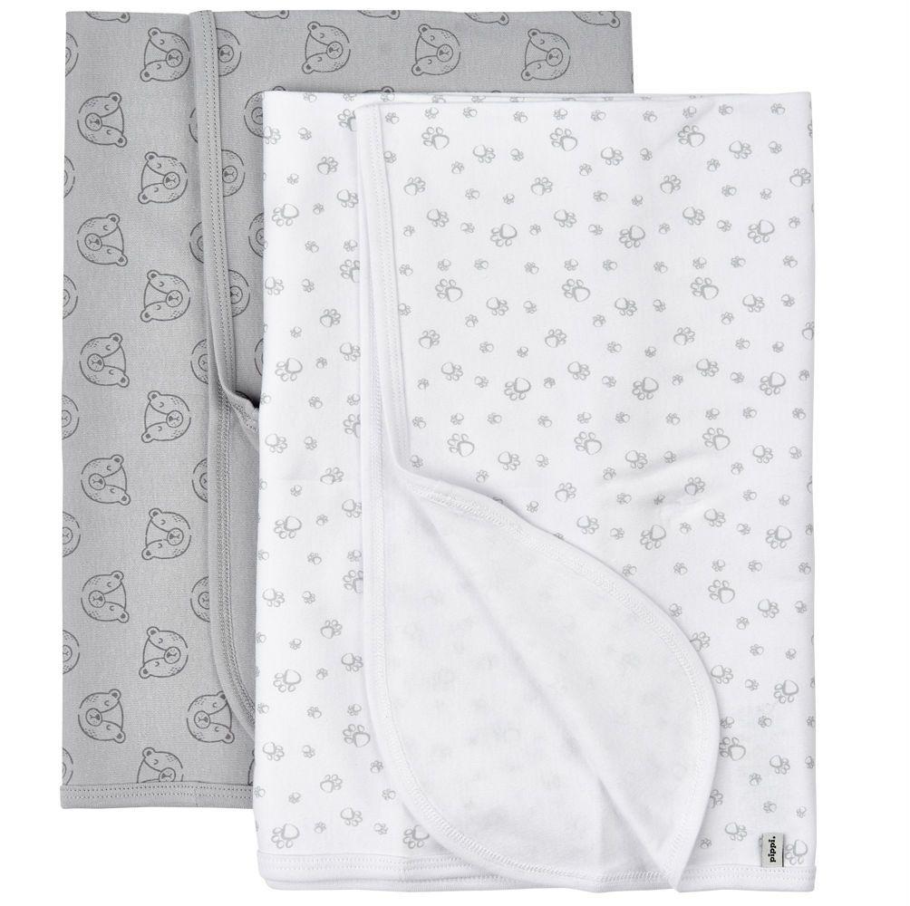 Svøb fra Pippi - Baby Blanket - Habour Mist (2-pak)