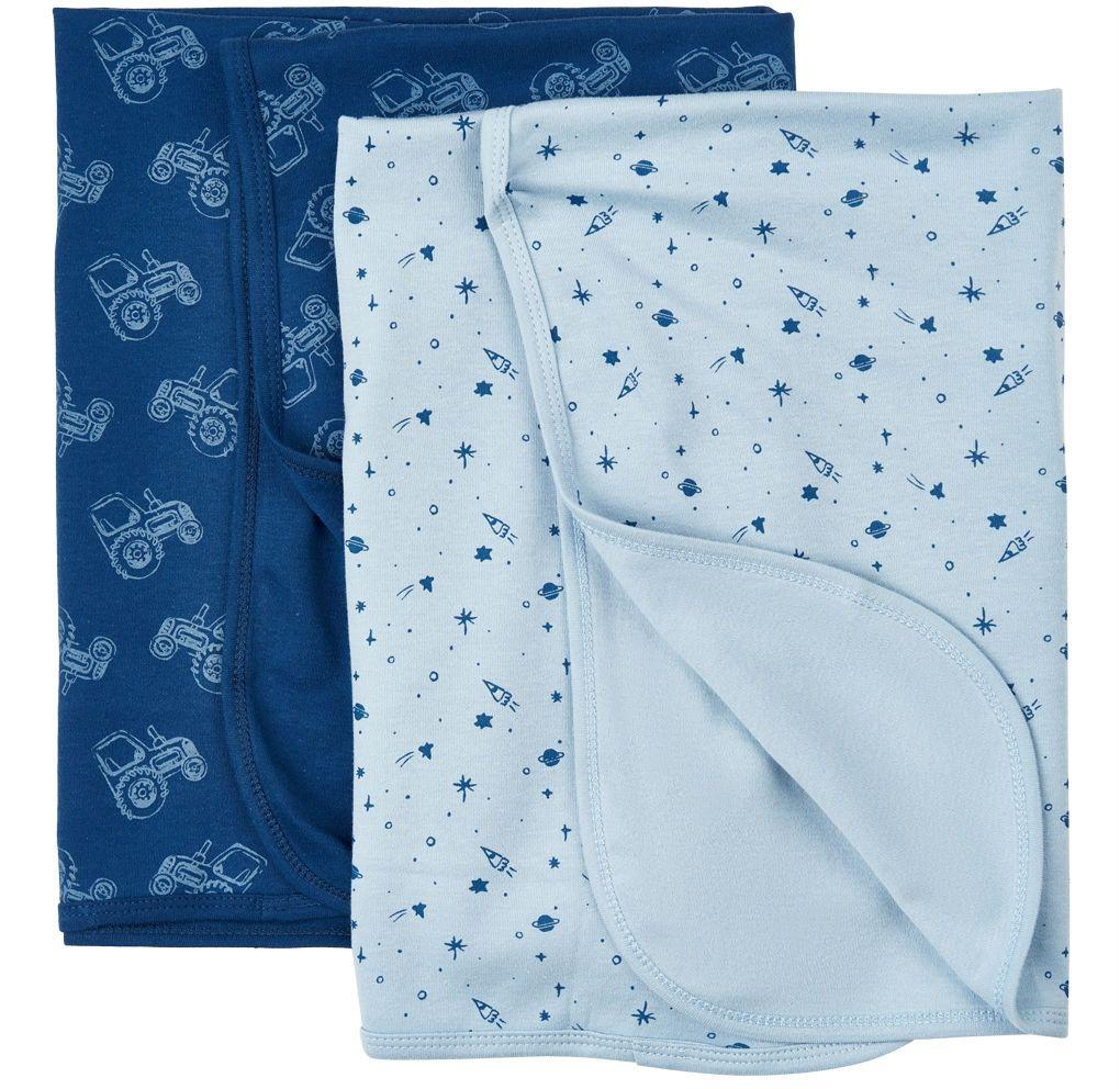 Svøb fra Pippi - Baby Blanket - Estate Blue (2-pak)