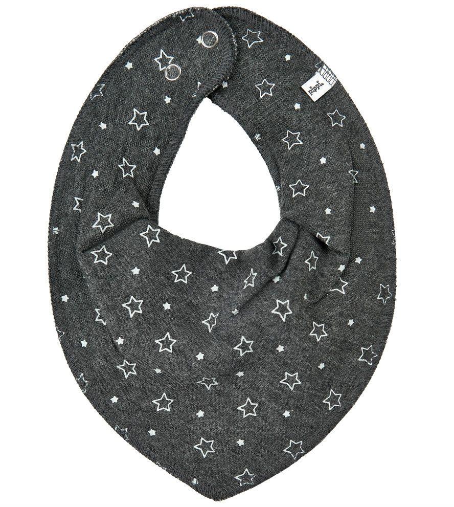 Billede af Savlesmæk fra Pippi - Bandana - Mørk gråmeleret m. stjerner