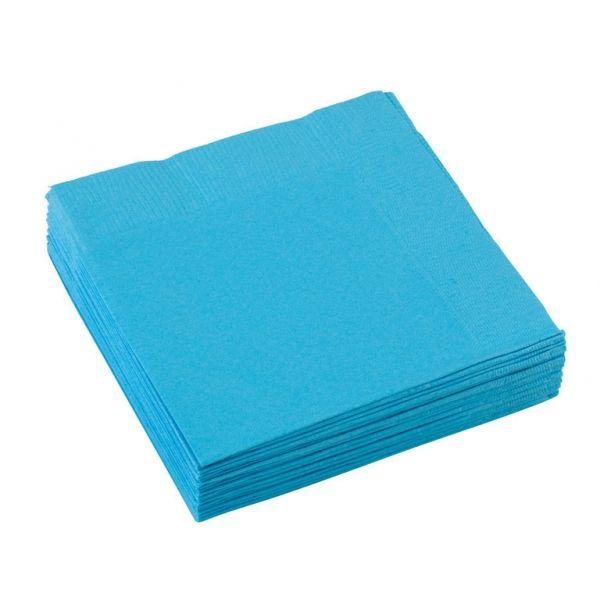 Image of Kaffe servietter - Carribean Blue (20 stk) (50015-54)
