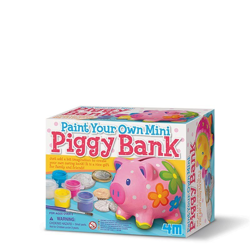 Paint Your Own Piggy Bank - Bank Painting  fra 4M