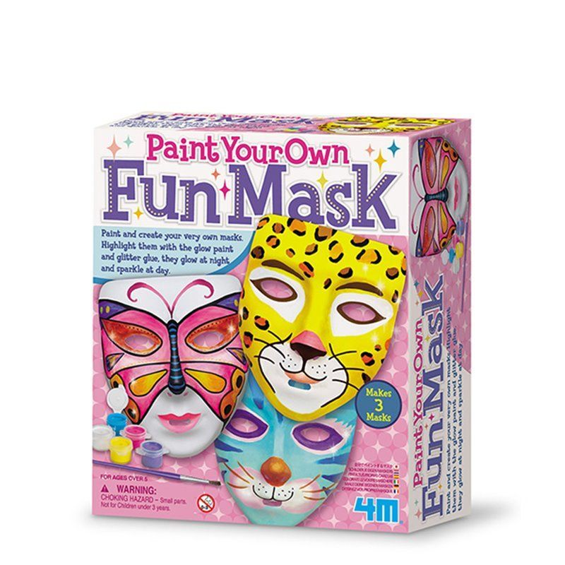Image of   Paint Your Own Fun Mask - Creative Craft fra 4M