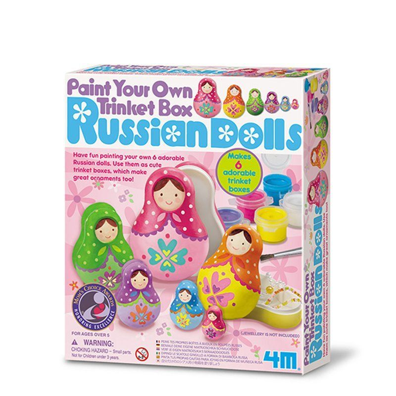 Image of   Paint Your Own Trinket Box Russians Dolls - Creative Craft fra 4M