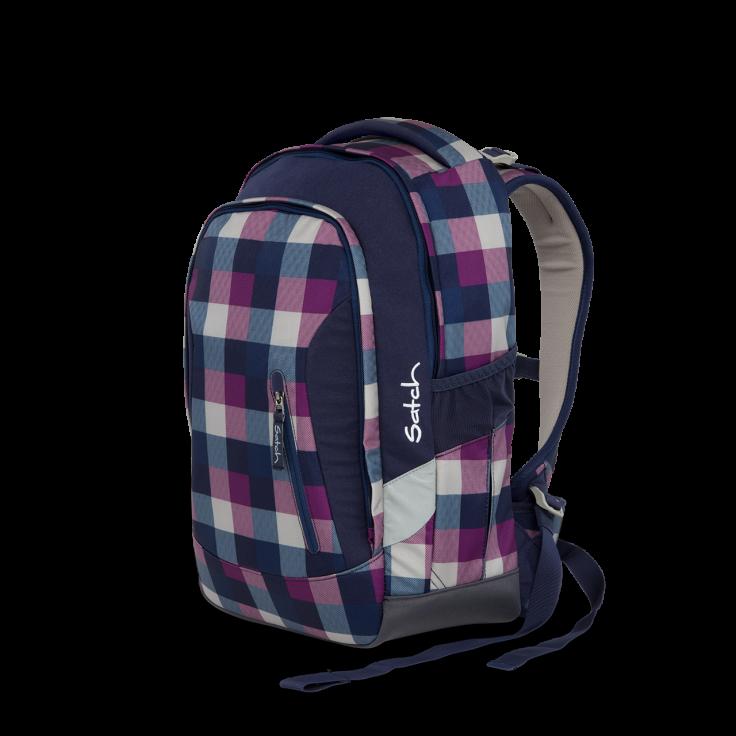 Satch Skoletaske rygsæk - satch sleek - berry carry (24l) på babygear.dk