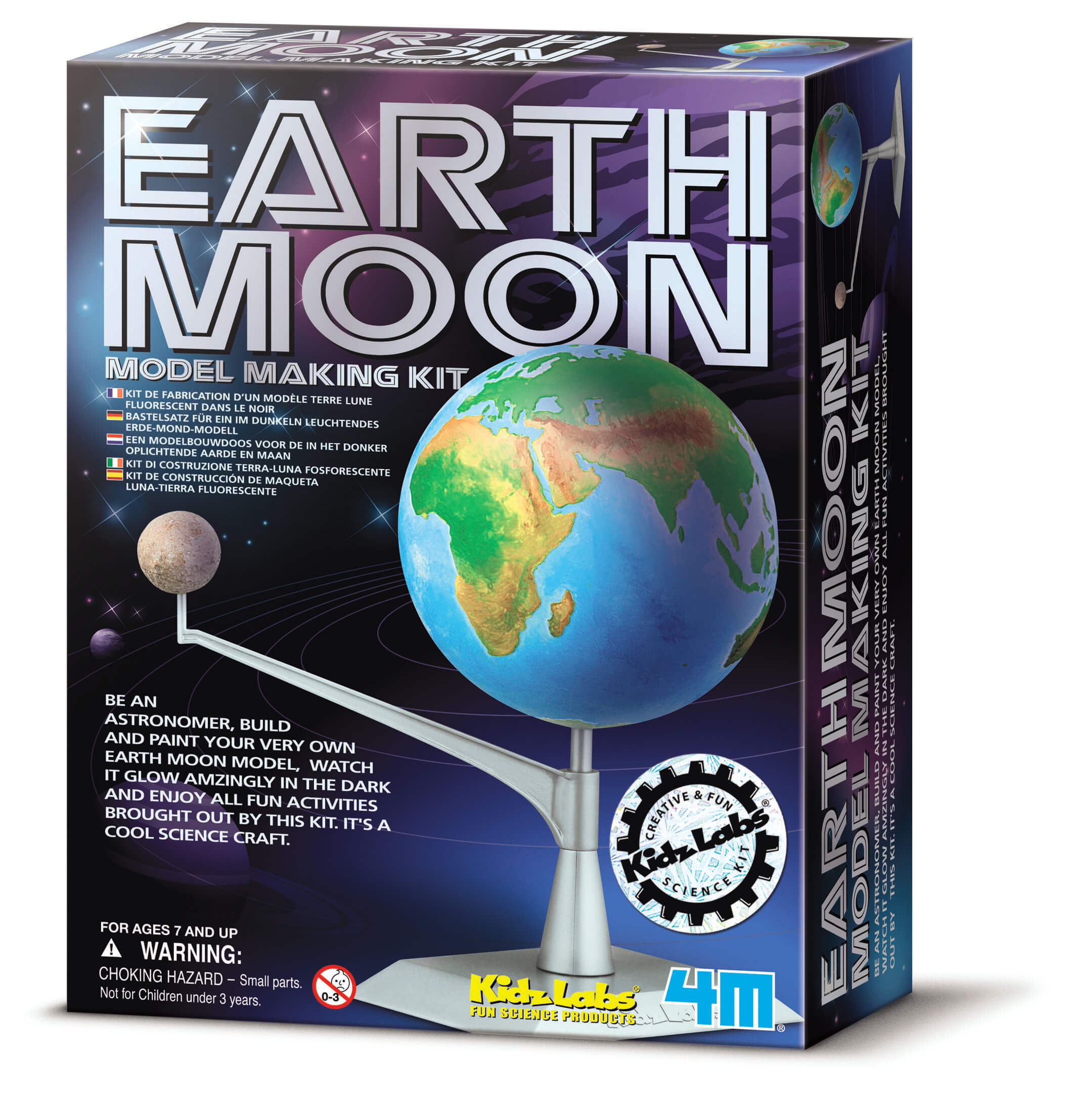 Image of Earth Moon Model Making Kit fra 4M KidzLabs - Byg Jord-Måne model (4M-3241)