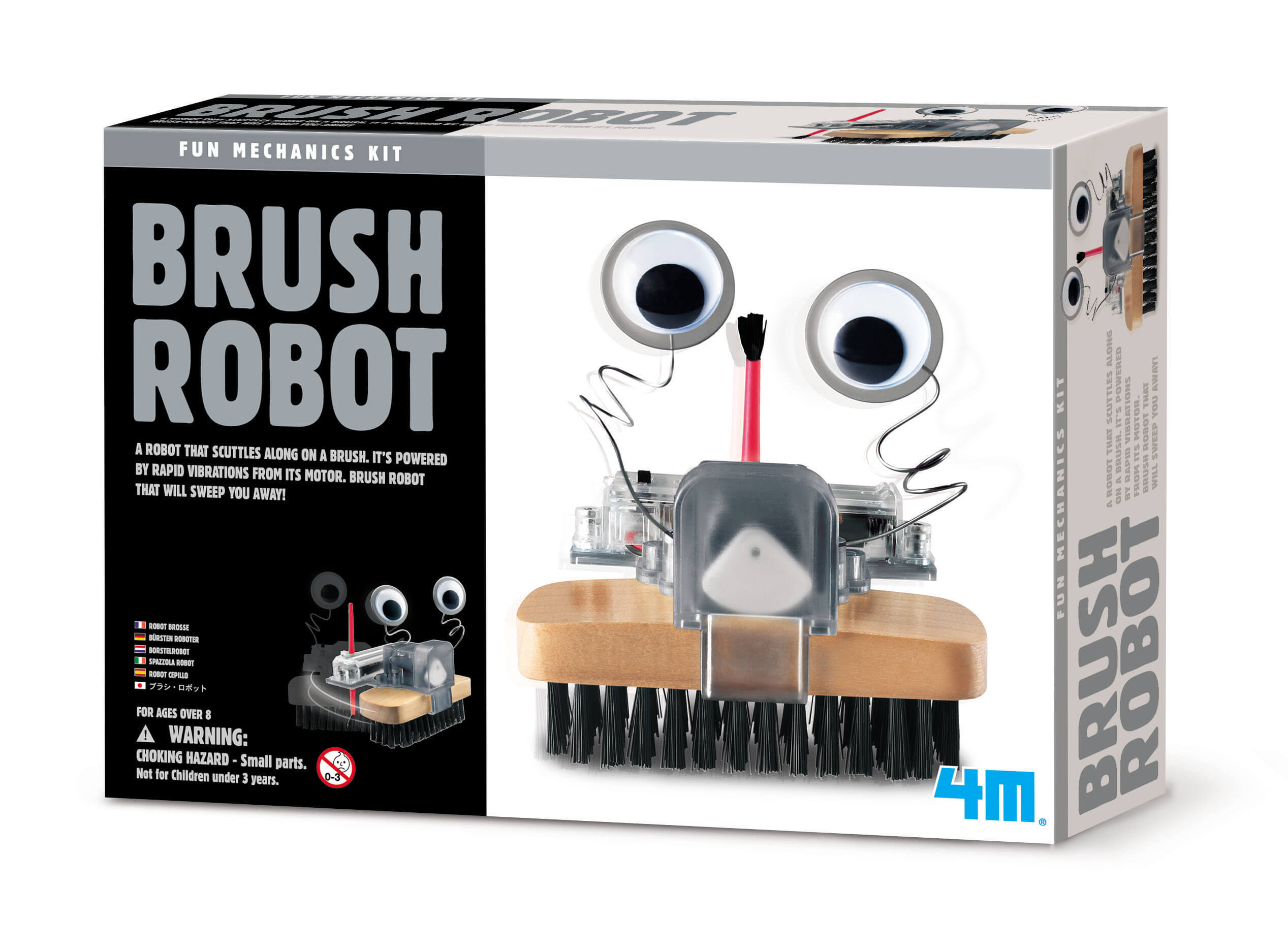Image of Brush Robot fra 4M Fun Mechanics - Byg en motordreven robotbørste (4M-3282)