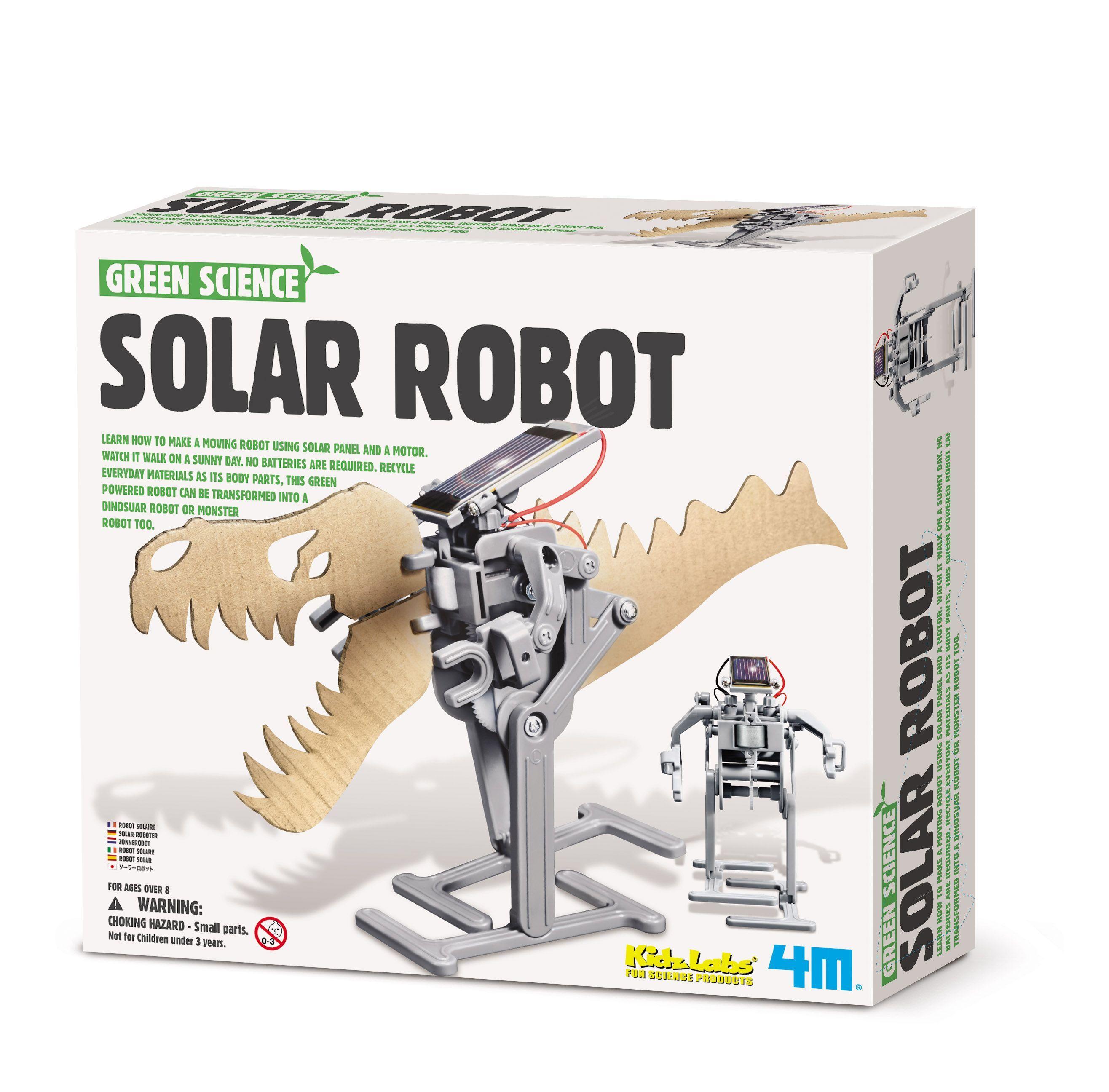 4m Soldrevet robot -green science fra 4m fra babygear.dk