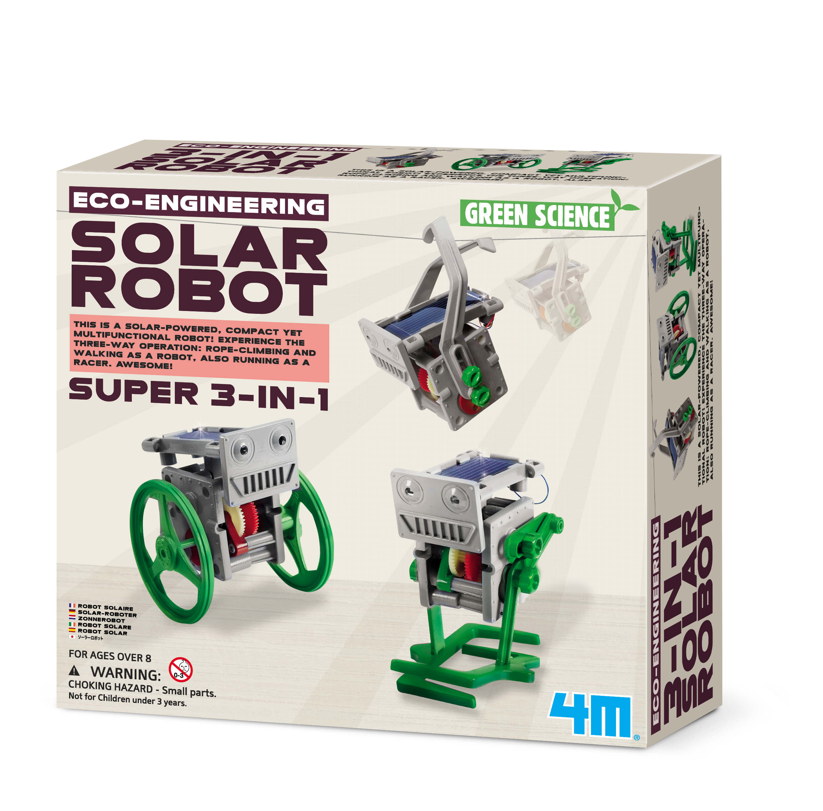 Image of Eco Engerneering - 3-i-1 Minisoldrevet Robot fra 4M (4M-3377)