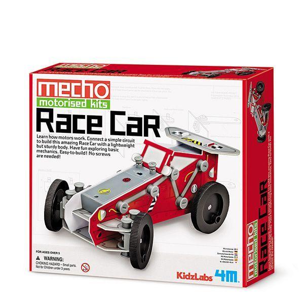 Image of   Race Car Kit fra 4M KidzLabs - Mekaniksæt - Byg lille motordreven bil