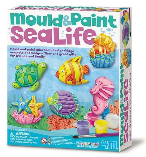 Image of   Make your own Sealife magnets - Mould & Paint fra 4M