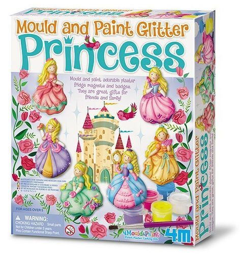 Make your own Glitter Princess magnets - Mould & Paint  fra 4M