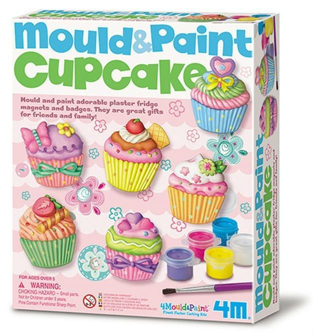 Make your own Cupcake magnets - Mould & Paint  fra 4M