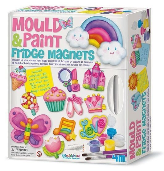 Image of   Make your own Fridge Magnets - Mould & Paint fra 4M